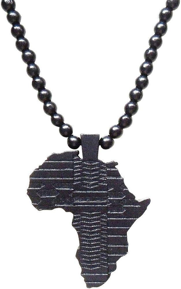 Damen u Herren Schmuck Afrika Perlen Hals-Kette Geschenk Valentinstag Frau Mann