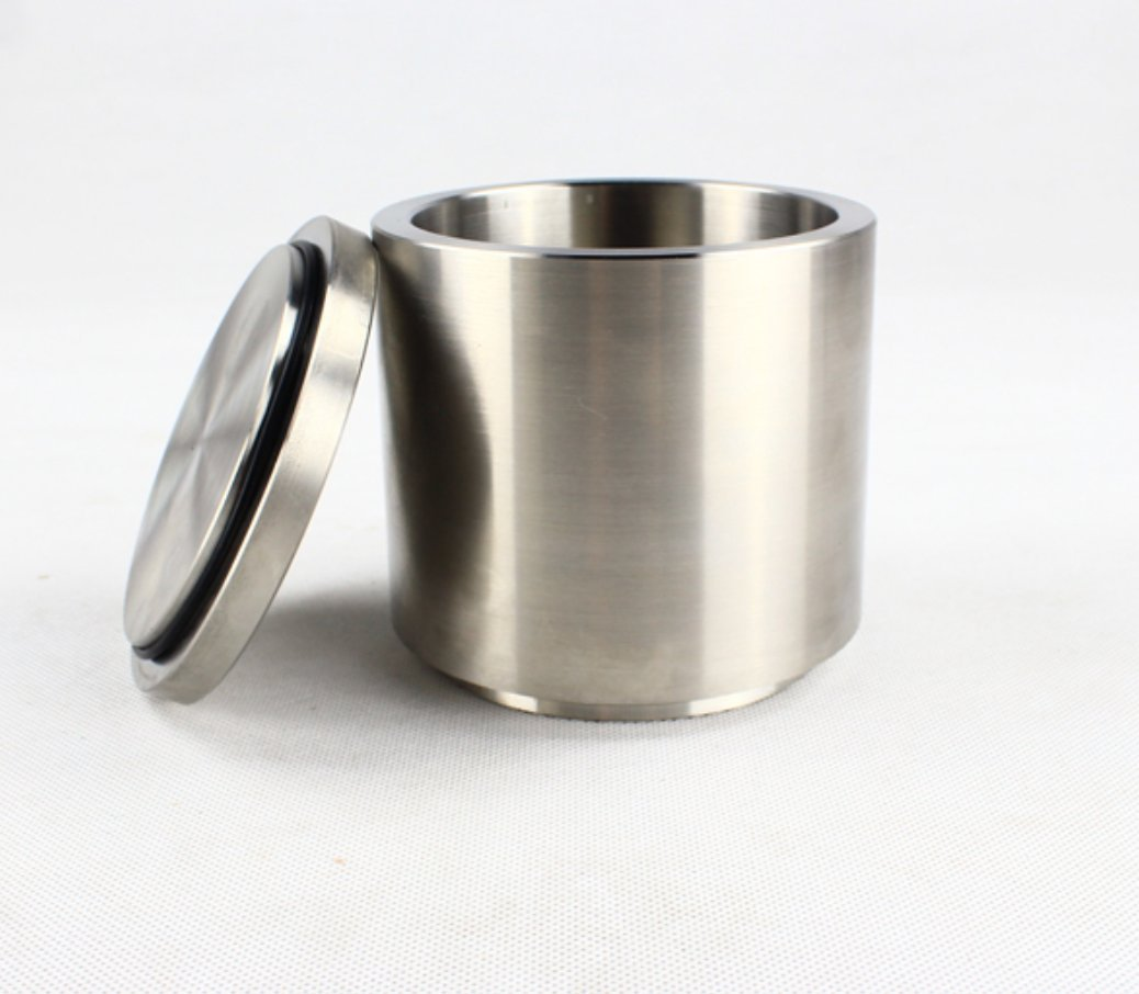 0.1L Grade 304 Stainless Steel Lab Planetary Ball Mill Jar with lid and sealing gasket by YJINGRUI (Image #1)