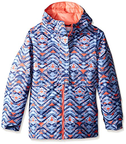 Columbia Girls Snowcation Nation Jacket, Large, Bluebell Print by Columbia