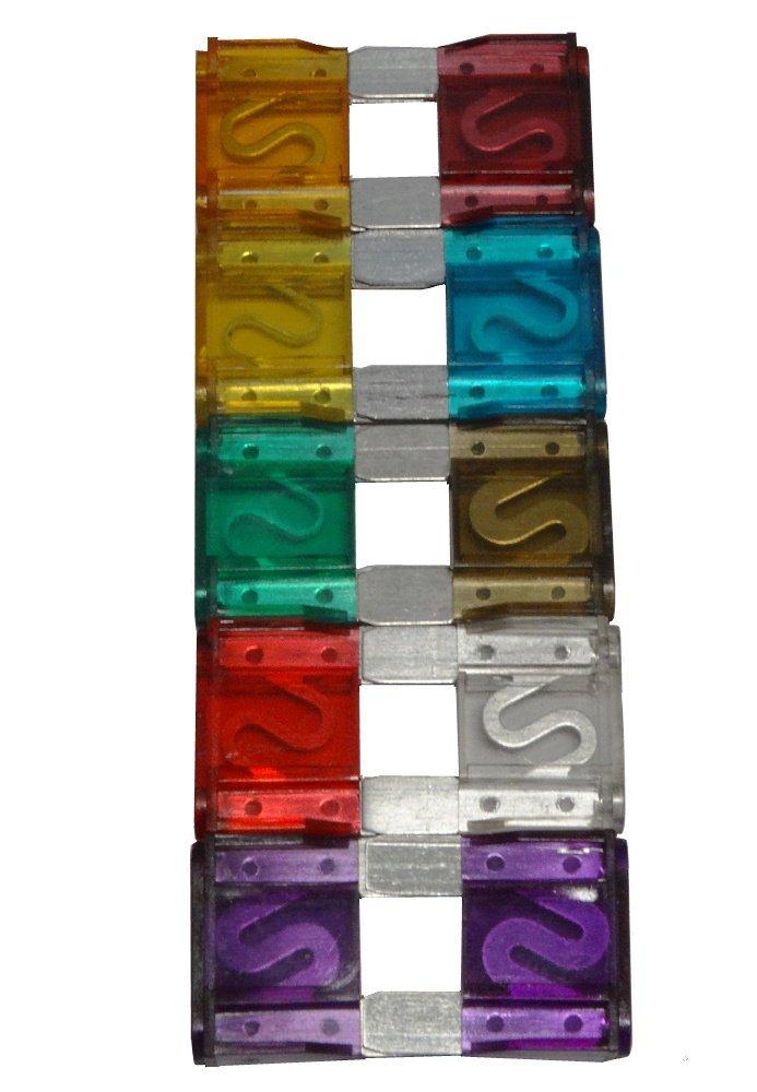 AERZETIX: 10 x Fusibles 29mm 20/30/40/50/60/70/80/90/100A para coche C3639 3800946180470