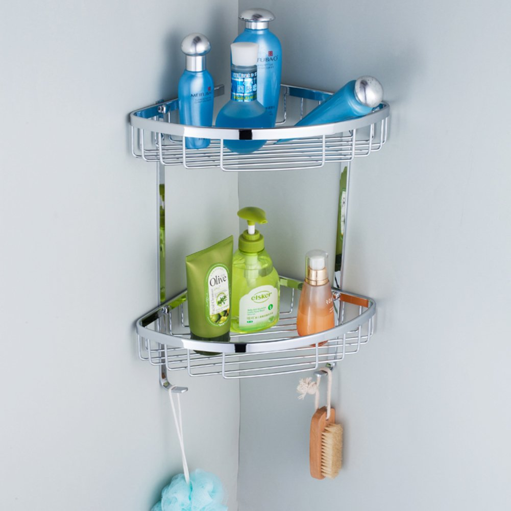 Stainless steel corner shelf/ bath triangle/ bathroom double ...