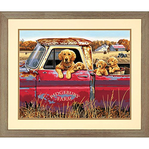 Dimensions Golden Retriever Truck Ride Paint by Numbers