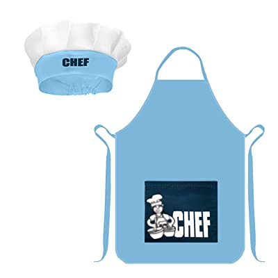 Micirc Kids Apron and Chef Hat for Boys Girls, Adjustable Pretend Play Child Aprons with Pockets Kids Kitchen Wear for Cooking, Baking, Painting: Home & Kitchen