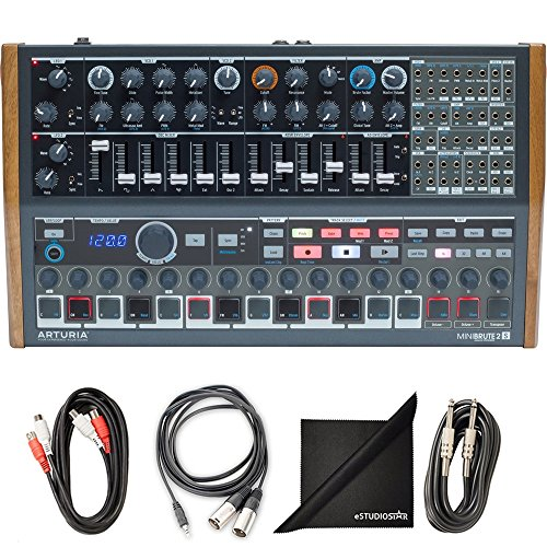 Arturia MiniBrute 2S Semi-Modular Monophonic Analog Sequencing Synthesizer w/AxcessAbles Cable Pack