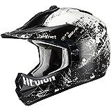 Triangle Motorcycle Helmets Youth Off Road Sport ATV Motocross Dirt Bike [DOT] White (Large)