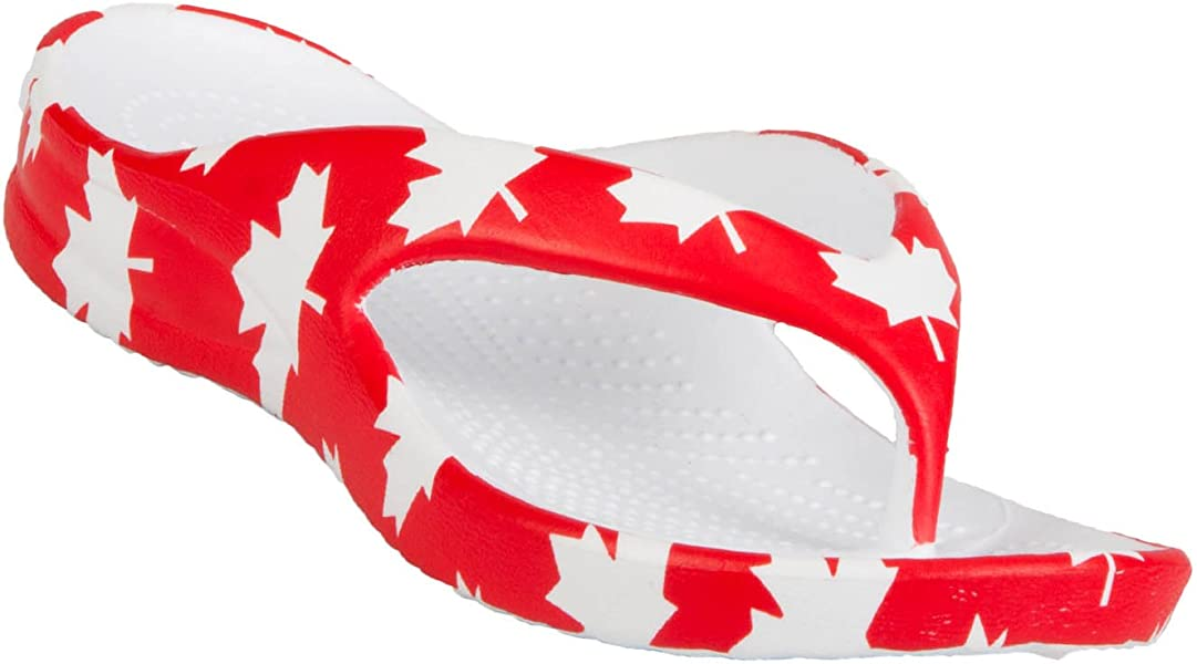 4ce4f1a6b DAWGS Kids  Fun Collection Flip Flops - Canada (Red White)