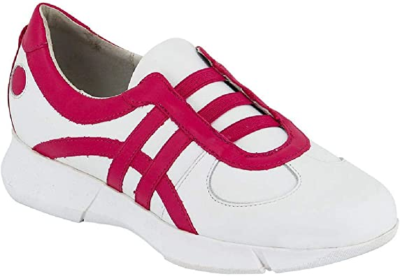 Chaussure Infirmiere Cuir Fushia Style Basket: