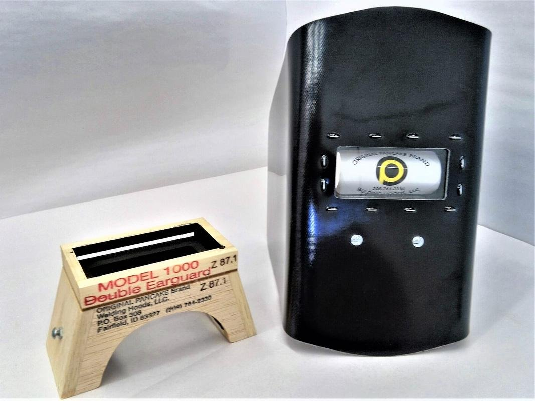 Original Brand Pancake Welding Hood Model 1000 Double Ear Guard Welding Hood 5/8'' lens box ANSI Approved Z87.1 OSHA Accepted Pipeline Welding 1per