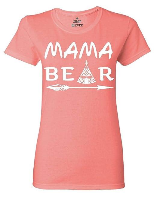 Shop4ever Mama Bear Camiseta Para Mujer De La Madre Día Camisas