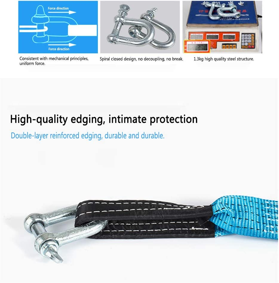 TEEKOO Car Trailer Rope Thickening Off-road Vehicle Trailer Belt 5 Meters 8 Tons Traction Rope Powerful Car Pulling Rope Binding Belt
