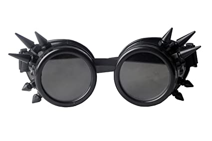 babdb6a20031 Image Unavailable. Image not available for. Color  Focussexy Glasses Rave  Vintage Goggles Retro Steampunk Lenses Gothicism for Cosplay Halloween  Spiked