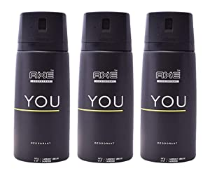 Axe Deodorant Body Spray You Mens Fragrance 150ml/5.07oz (3-Pack)