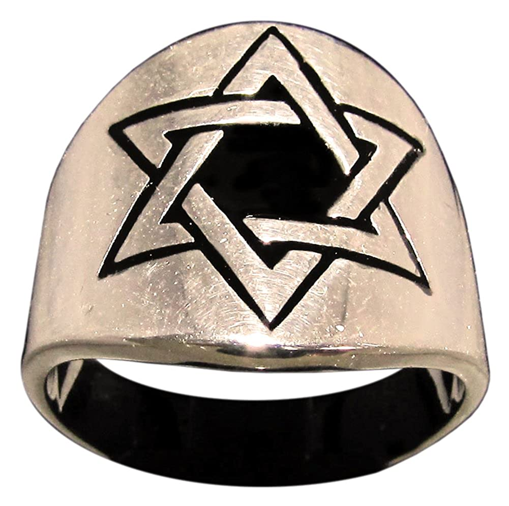 Tejido Hexagonal Anillo Estrella de David en bronce (tamaño ...