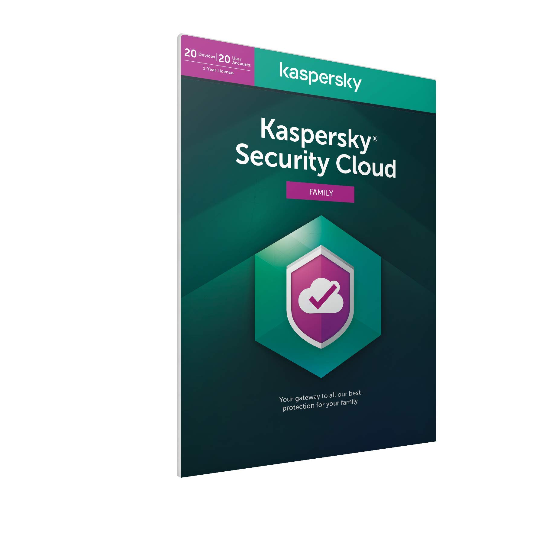 Kaspersky Security Cloud - Family | 20 Devices | 1 Year | Antivirus, Secure VPN and Password Manager Included | PC/Mac/iOS/Android | Activation Code by Post