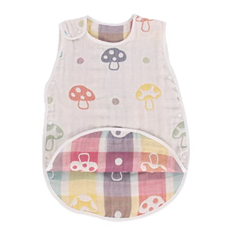 Fairy Baby Baby Saco de dormir de verano Cotton Gauze Wearable Blanket for Boys Girls Aprox