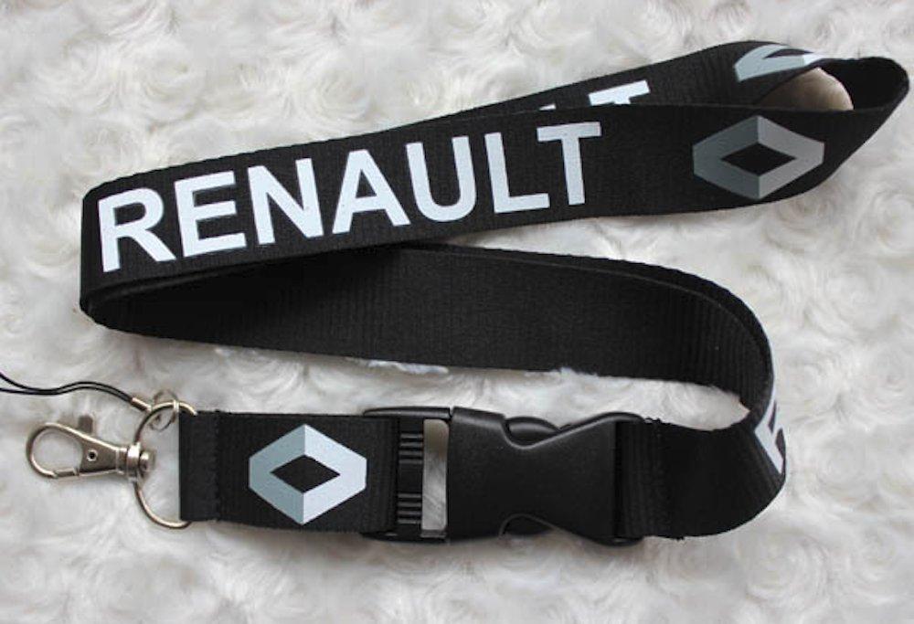 Renault negro coche Auto Logo cordón llavero soporte para ...