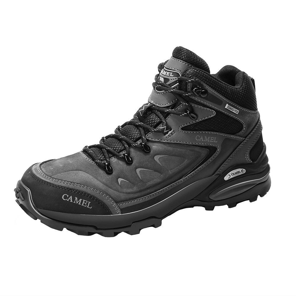 TALLA 40 EU. CAMEL Botas de Senderismo para Hombres Zapatillas de Escalada Confortables Antideslizantes y Resistentes al Desgaste Zapatos de Nobuk para Trekking Caminar Correr al Aire Libre