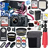 Canon EOS M6 24.2MP Mirrorless Digital Camera Video Creator Kit with 32GB Dual Memory Accessory Bundle