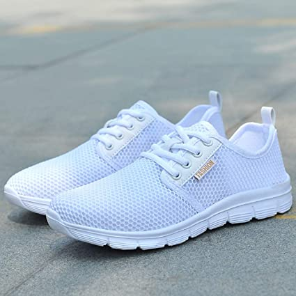 ZODOF Zapatos de Malla al Aire Libre de Las Mujeres Cordones Casuales para Arriba Soles cómodos Que se Ejecutan los Zapatos de los Deportes: Amazon.es: Ropa ...