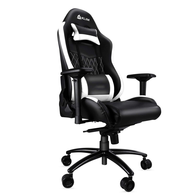 Klim Esports Gaming Chair Executive Ergonomic Racing Computer Chair - Back & Head Support - New - Adjustable Armrest - Desk & Office Recliner - Silla Gamer ...