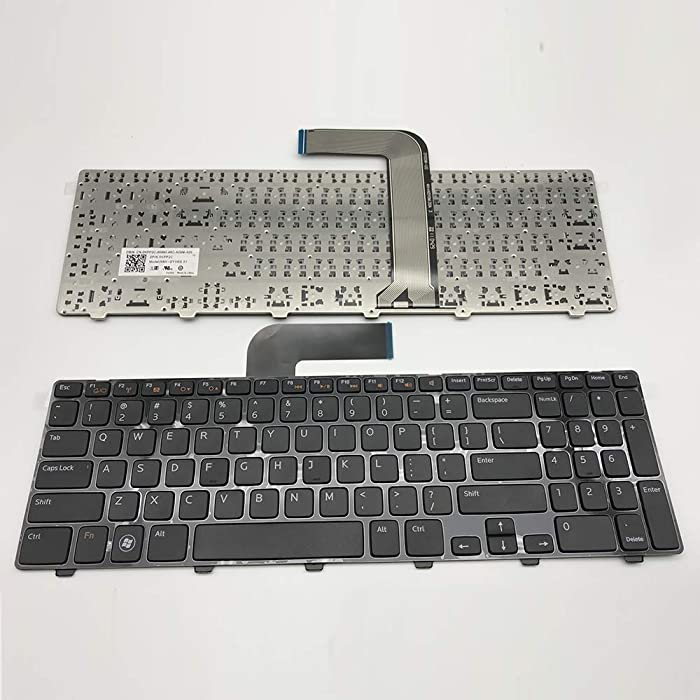 US Layout Notebook Keyboard for Dell Inspiron N5110 / M5110 Laptop Series Black with Frame Without Backlight