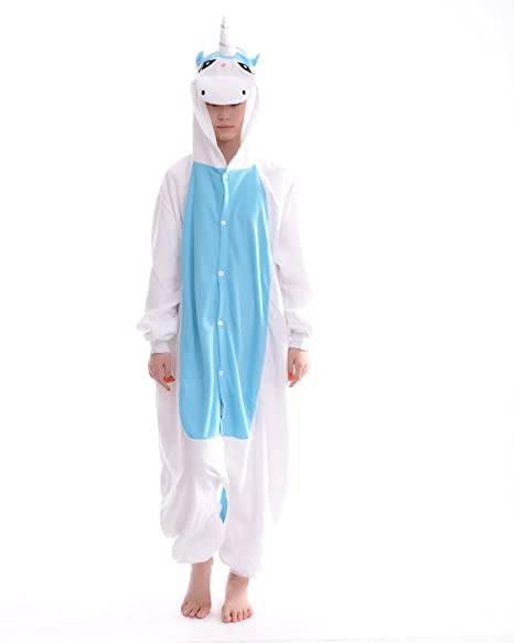 DAYAN Unicornio Unisex Pijamas Adulto Anime Cosplay Ropa Pijamas Franela Hombre Mujer Dormir Animal Pyjama Caliente