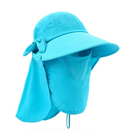 2a2083737aaa7 Epsion Women Summer Neck Flap Sun Visor Hats Wide Brim UV Protection UPF 50+