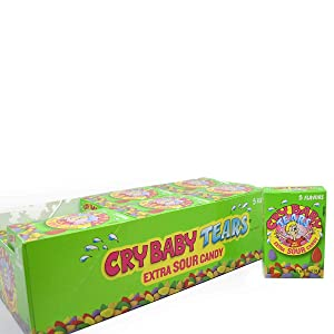 Cry Baby Tears Extra Sour Candy, Five Flavors, 1.98-Ounce Boxes (Pack of 24)