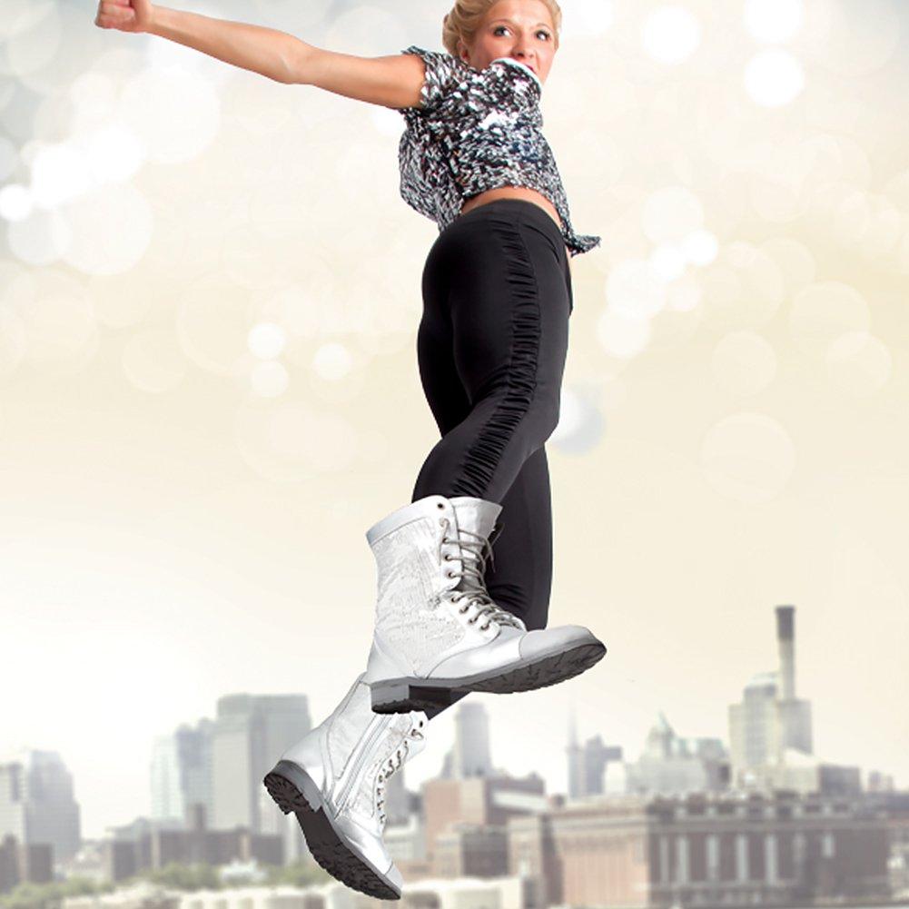 Gia Mia Dancewear Women's Sequin Combat Boot B00OJDAZY0 8 B(M) US Black