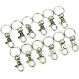 AllOff 12 x Lobster Clasps Swivel Trigger Clips Snap Hooks Bag Key Ring Charms Findings