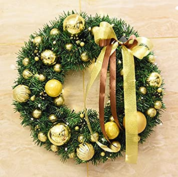 Amazon Tattyakoushi 24 Inch Christmas Wreath With Gold Pearl