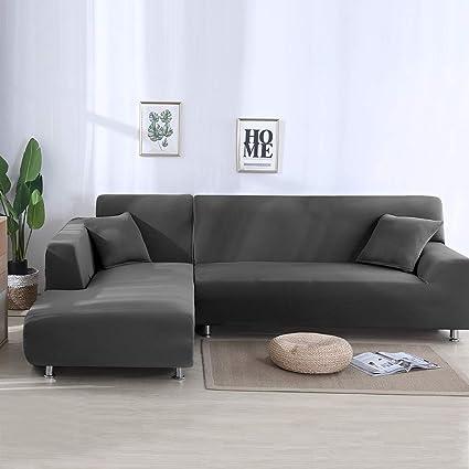 PandaHug Sofa cover L shape Sofa slipcover Pet protector Anti-slip Stain  resistant Machine Washable Furniture Protector Modern Corner Sofa Covers ...