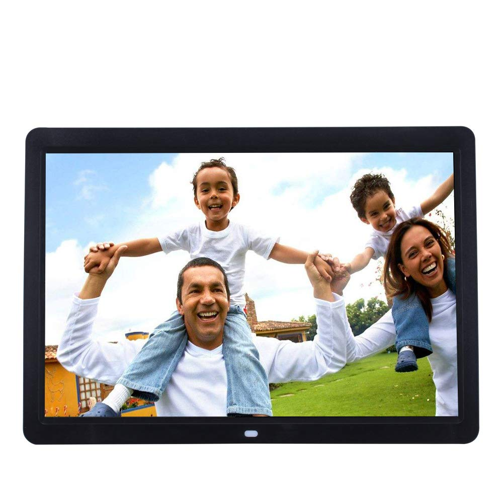 ZYLFN 17 inch WiFi Digital Picture Frame,Touch Screen Display Plays Video and Photo Slideshows HD IPS Display Electronic Smart Picture Frame,Black