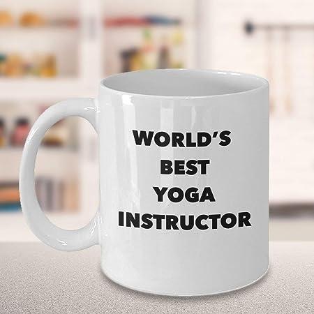 Taza de café con el mejor instructor de yoga del mundo ...