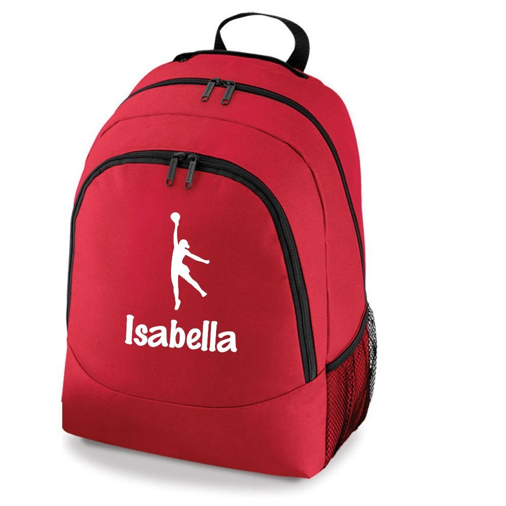 iClobber Personalised Netball Girl Rucksack Your Name Or Club