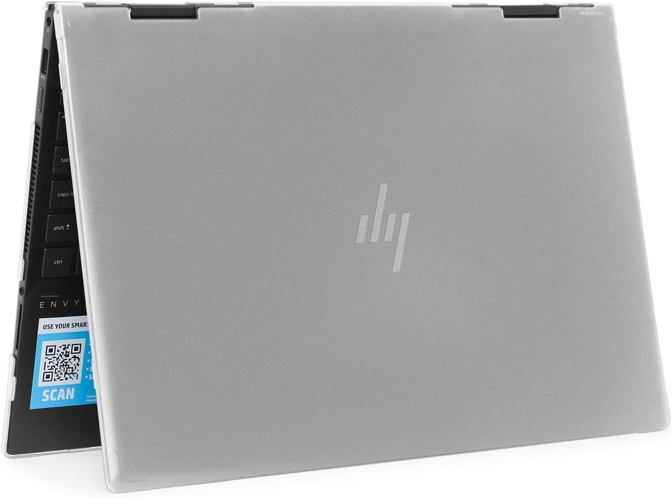 """mCover Hard Shell Case for 2020 15.6"""" HP Envy x360 15-EExxxx (AMD CPU) / 15-ED (Intel CPU) Series Laptop (NOT Compatible with Envy x360 15-AQ/BP/DS/DR Series & Other Models) – x360-15-EE-ED (Clear)"""