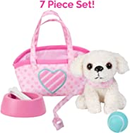 """Adora Amazing Pets """"Pixie the White Poodle"""" – 18"""" Doll Accessory includes 4.5"""