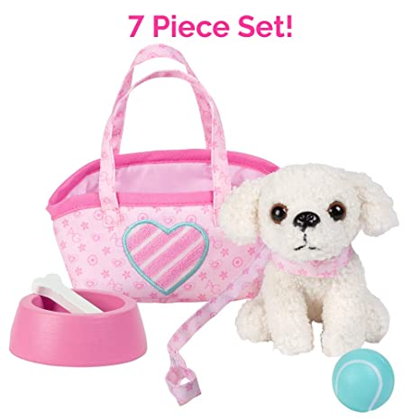 """Adora Amazing Pets """"Pixie the White Poodle"""" – 18"""" Doll Accessory includes  4.5 quot a12afd7662979"""