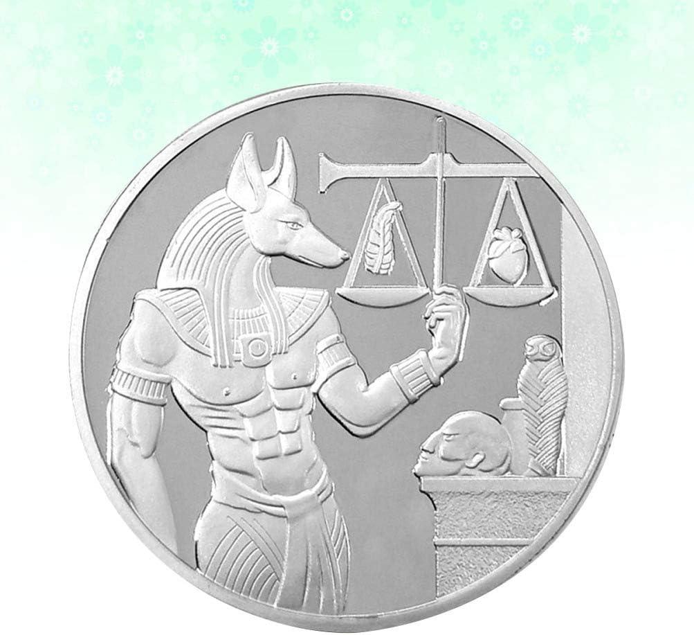 PRETYZOOM Anubis M/ünze /Ägyptischen Gott Herausforderung M/ünze Gedenkkunst M/ünzsammlung Eisen Souvenir Handwerk Geschenk Spielzeug Golden
