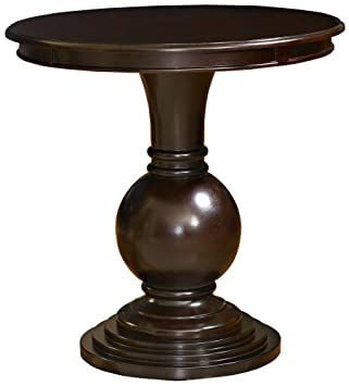 Attractive Powell Espresso Round Accent Table