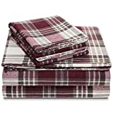 queen plaid flannel sheets - 100% Cotton Flannel Sheet Set - Extra Soft Heavyweight - Double Brushed Flannel - Deep Pocket Plaid