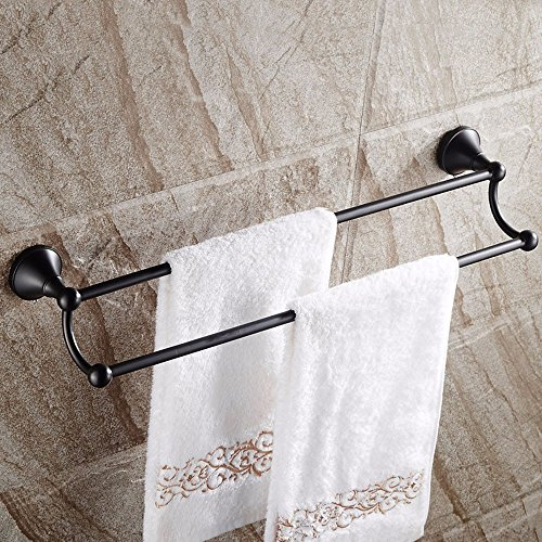 - Yomiokla Bathroom Accessories - Kitchen, Toilet, Balcony and Bathroom Metal Towel Ring In Part 2 LEVER WALL MOUNTED double pedestal carving flower black