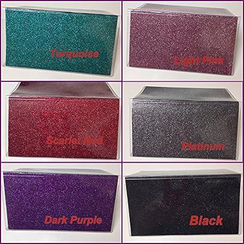 Bling Glitter - Vinyl Checkbook cover,Duplicate or Single Checks, No wait Ready to Ship (Duplicate Plate)