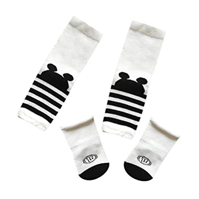 093efc589 Hatoys Baby Care Toddler Girls Protective Knee Pads Leg Warmers+Socks Set