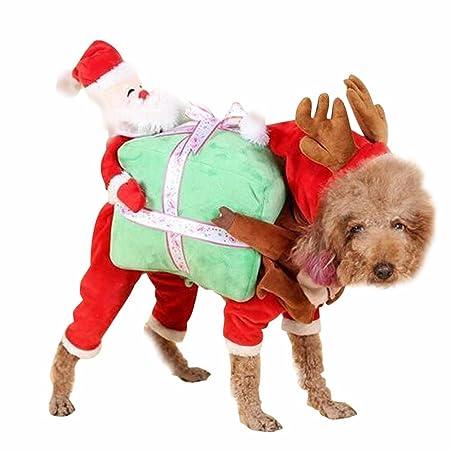 Amazon.com : Tinksky Dog Cat Santa Costume Christmas Dog Coat Jumper ...