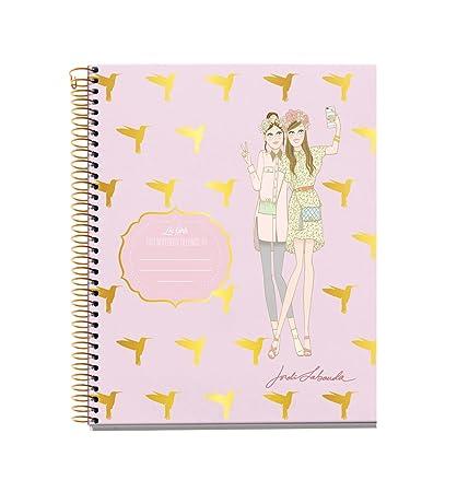 Jordi Labanda 48097 - Notebook 4 cartón chicas colibris jl (DIN A5, 148 x 210 mm, 120 hojas, 70 g/m², rayado)
