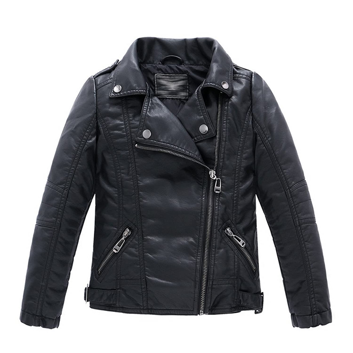 Collar Motorcycle Leather Jacket