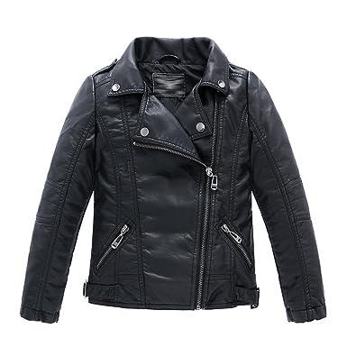 bf0b4a2fcc1b Amazon.com  LJYH Children s Collar Motorcycle Faux Leather Coat Boys ...
