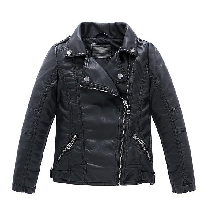 175fa6b98393 LJYH Childrens Faux Leather Bomber Jacket Kids Boys Coat  Amazon.ca ...