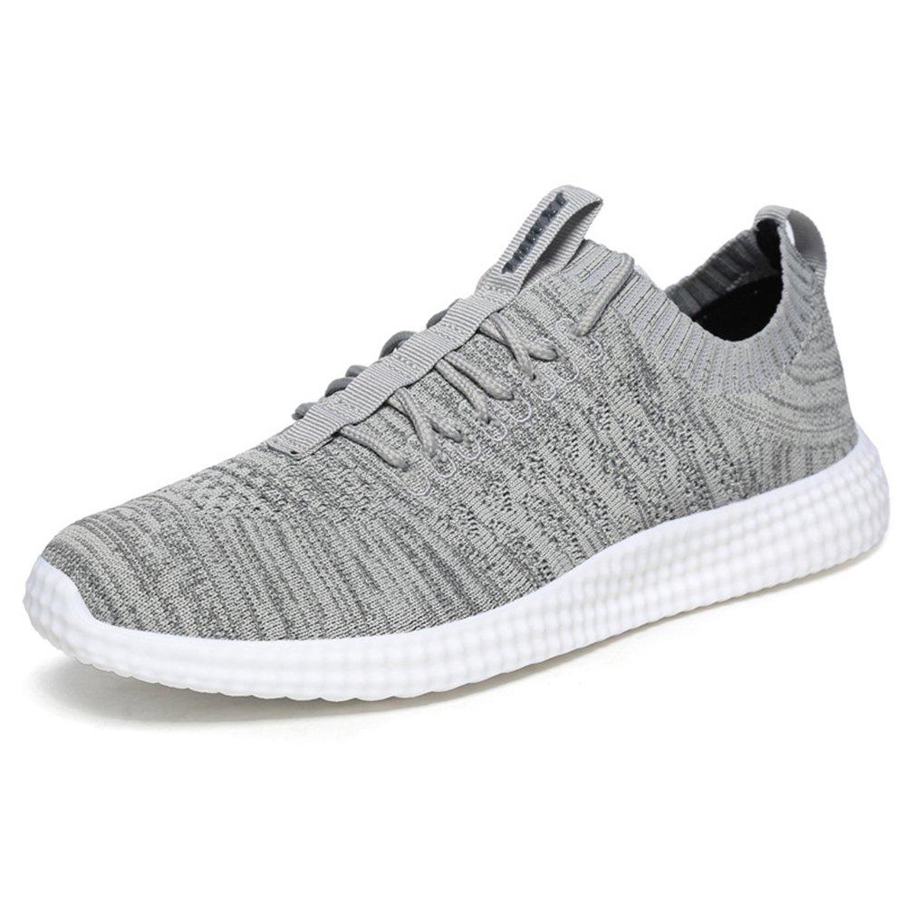 MUOU Schuhe Herren Sneaker Atmungsaktive Freizeitschuhe Lace-Up Mauml;nner Turnschuhe Mesh Wohnungen Laufschuhe  39 EU|Grau